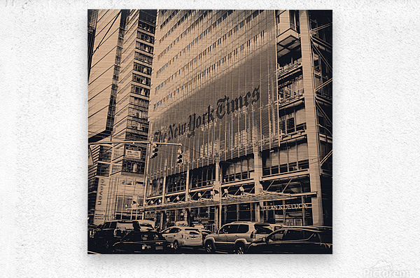 New York Times  Metal print