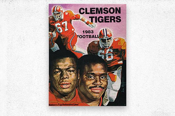 1983 Clemson Tigers Football Poster  Metal print