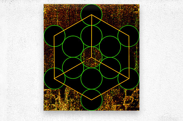 Experiments with Geometry 3  Metal print