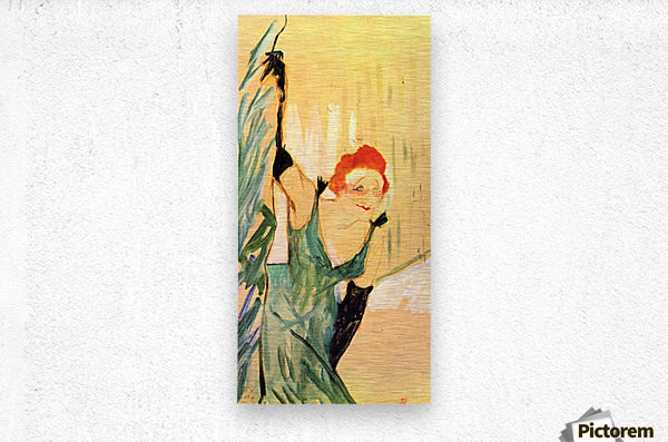 Yvette Guilbert greets the Audience by Toulouse-Lautrec  Metal print