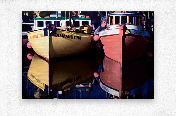 Moored Fishing Boats  Metal print
