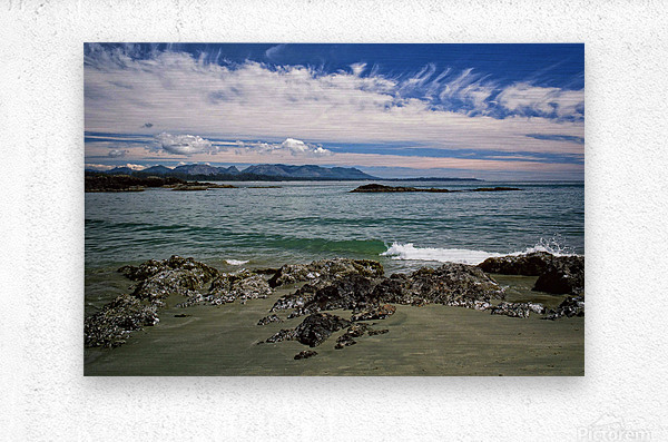 Peaceful Pacific Beach  Metal print