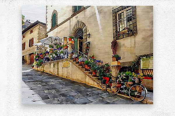 Floral Display Cortona  Metal print