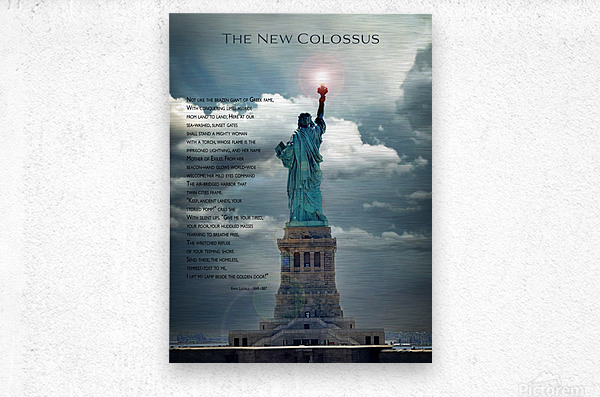 New Colossus  Metal print