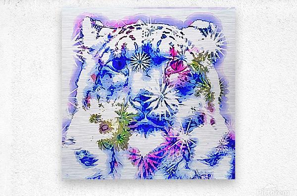 Spirit of the Snow Leopard   Metal print