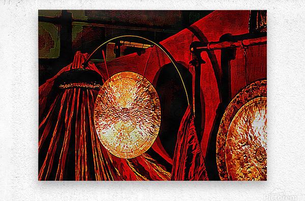 Energy Of Gongs  Metal print