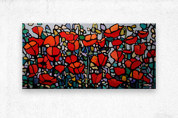 Poppies 1  Metal print