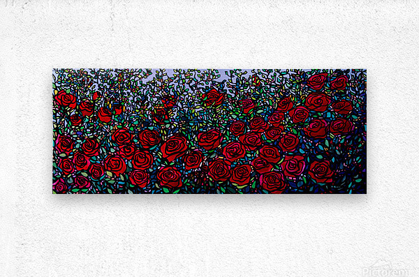 Garden of Roses  Metal print