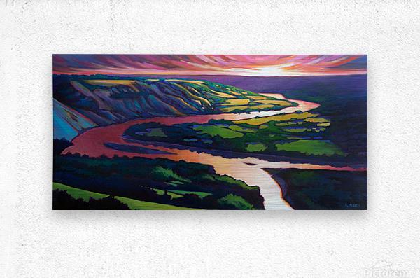 Peace River Setting Sun  Metal print