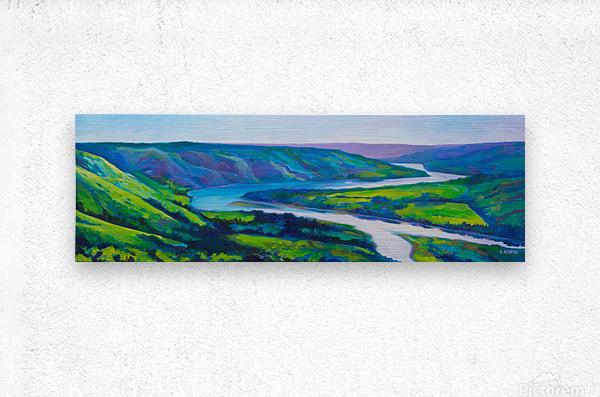 Peace River in Spring  Metal print
