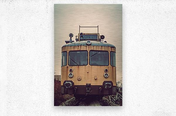 Junkyard train  Metal print