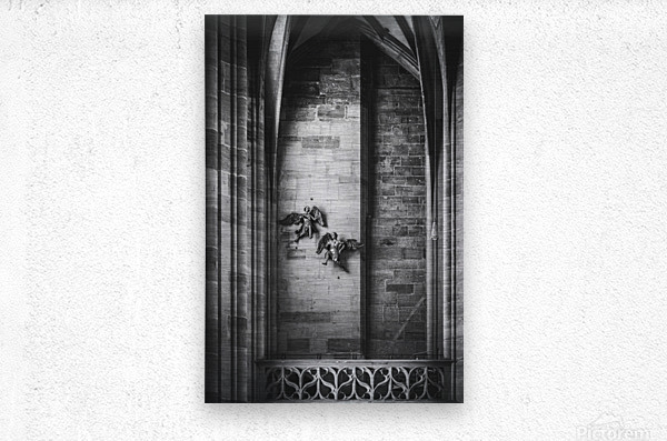 Gothic angels  Metal print