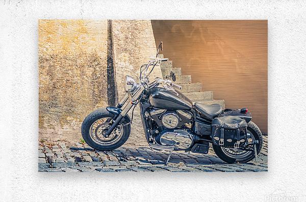 Chopper cruiser motorbike  Metal print
