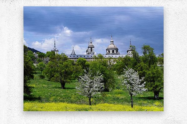 Casita del Principe 5 of 7 - Park and Gardens - The Royal Monastery of San Lorenzo de El Escorial - Madrid Spain  Metal print