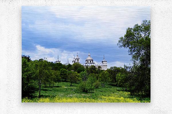 Casita del Principe 2 of 7 - Park and Gardens - The Royal Monastery of San Lorenzo de El Escorial - Madrid Spain  Metal print