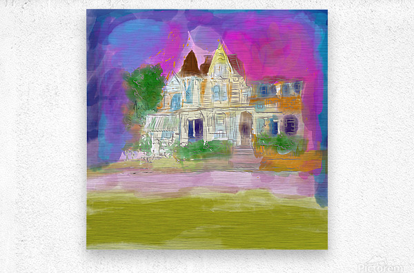 Victorian House at Cape May  Metal print