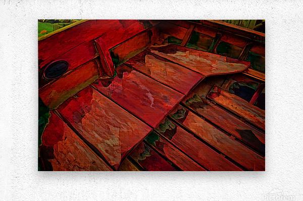 Rowboat Abstract  Metal print