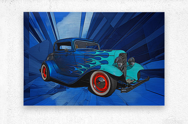1932 Ford 3-Window Coupe  Metal print