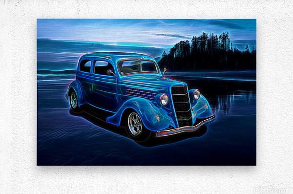 1935 Ford 2-Door Sedan  Metal print