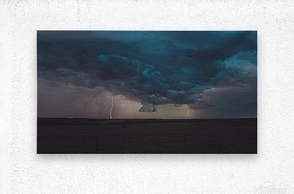 Prairie Storm  Metal print