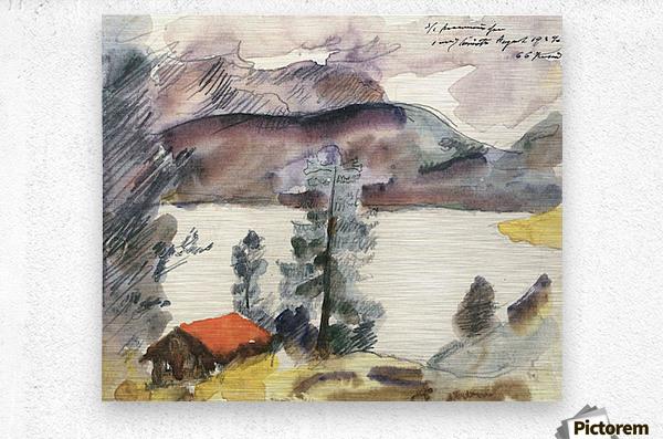 Walchensee -7- by Lovis Corinth  Metal print