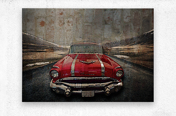 1956 Pontiac Strato-Streak  Metal print