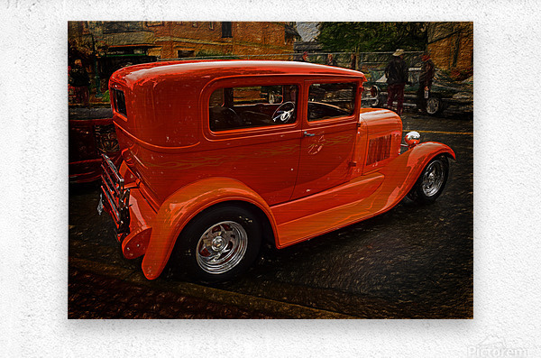 1929 Ford Tudor Sedan  Metal print