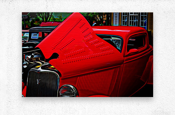 1933 Ford Window Coupe  Metal print