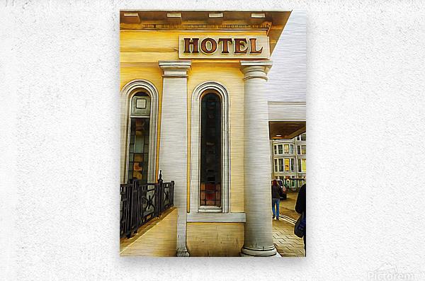 Royal Albion Hotel Brighton Entrance  Metal print