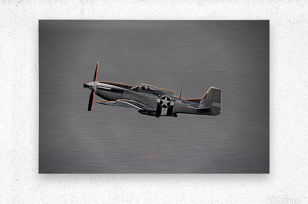P-51 Orange Super Limited Edition 10 Prints only  Metal print