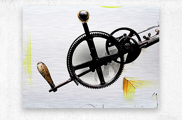 Antique Aspirations Towards Steampunk  Metal print