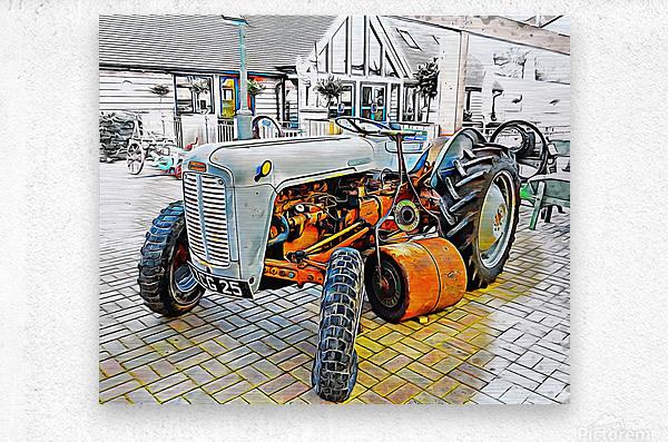 Ferguson Tractor and Hand Roller  Metal print