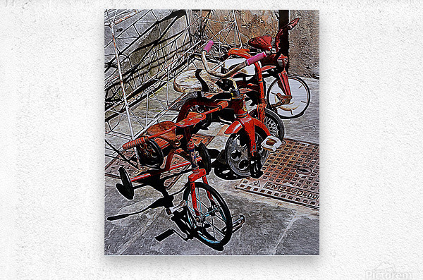 Italian Toy Antique Tricycles  Metal print