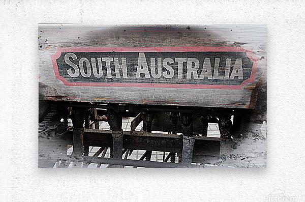 South Australia Sign  Metal print