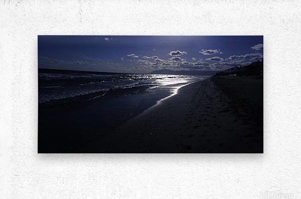 Reflections - Beneath the Moonlit Skies  Metal print