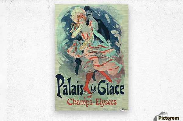 Palais de Glace Vintager Poster  Metal print