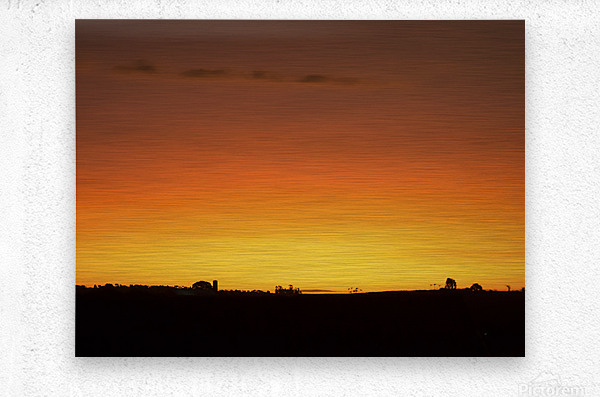 Strong Colours at the End of a Day  Metal print
