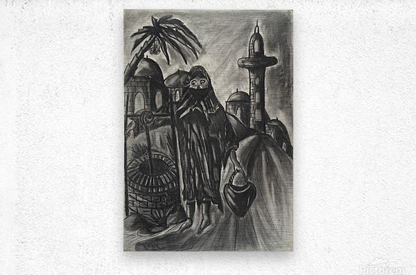 RA 014 - אישה מוסלמית - Muslim woman  Metal print
