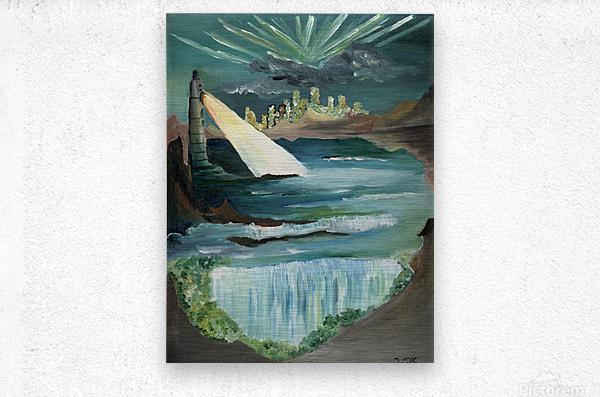 RA 040 - אור המגדלור - Lighthouse light  Metal print