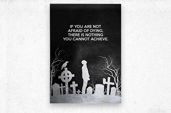 Laugh at Death Motivational Wall Art  Metal print