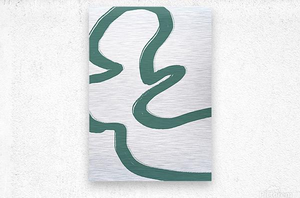 Road Green  Metal print