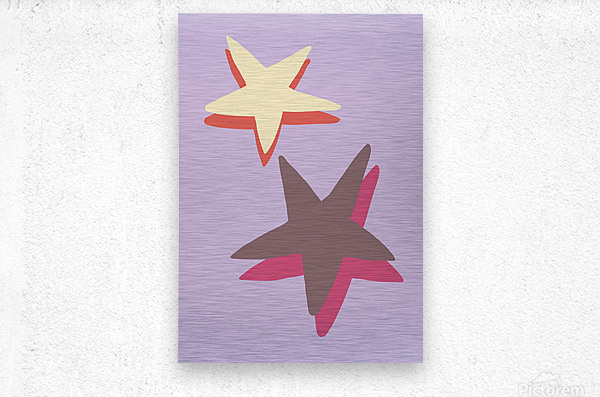 Lilac Star  Metal print