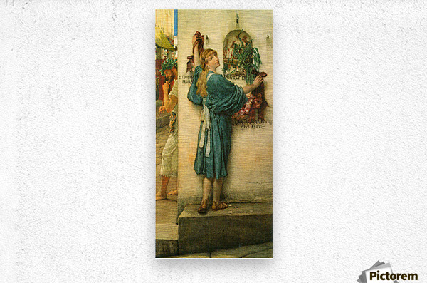 A road altar by Alma-Tadema  Metal print
