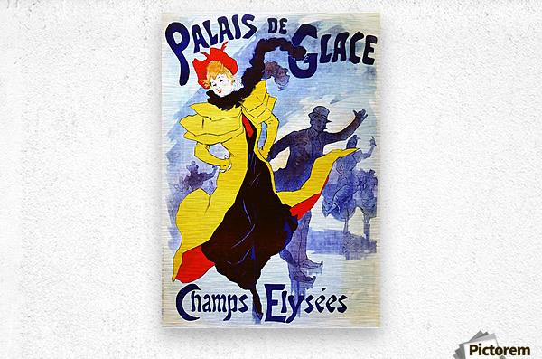 Palais de Glace by Cheret  Metal print