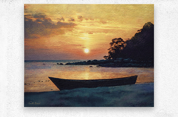 If I had a boat  Metal print