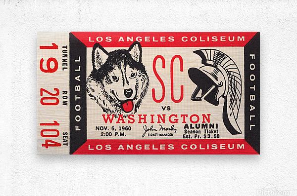 1960 USC Trojans vs. Washington Huskies  Metal print