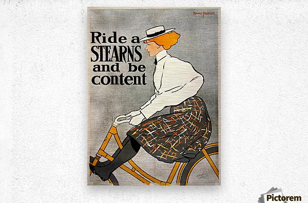 Ride a Stearns  Metal print