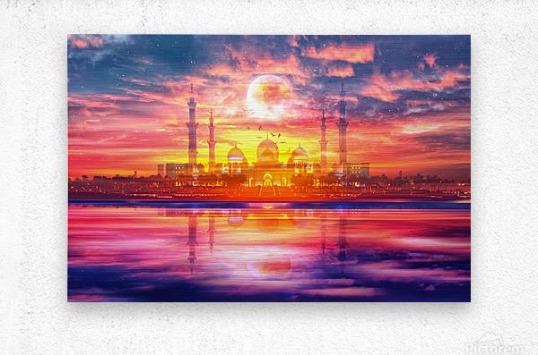 Surreal Taj Mahal  Metal print
