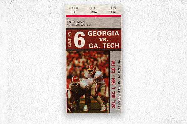 1984 Georgia Tech vs. Georgia  Metal print