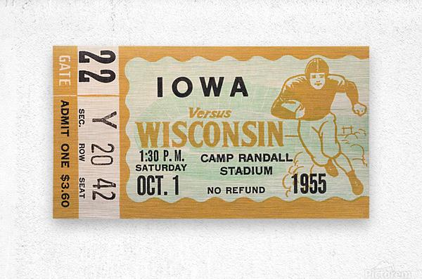 1955 Iowa Hawkeyes vs. Wisconsin Badgers  Metal print